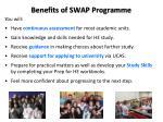 benefits of swap programme