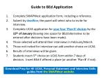 guide to bed application