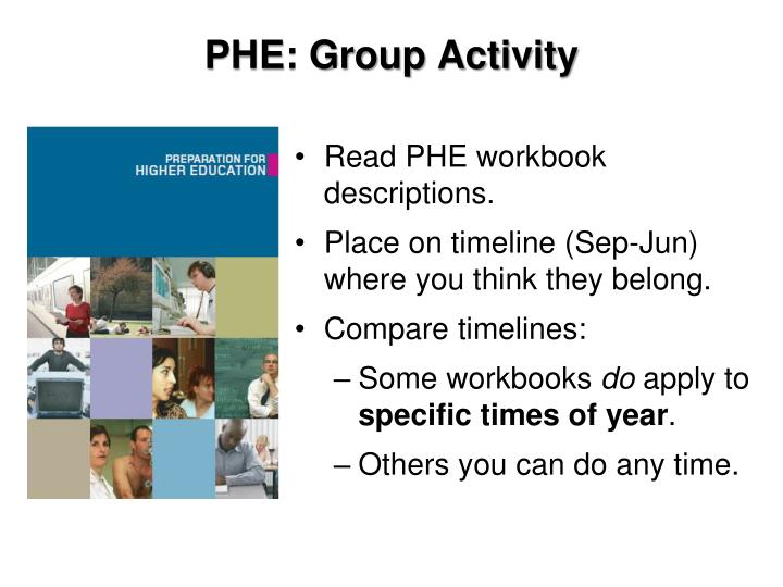 PHE: Group Activity