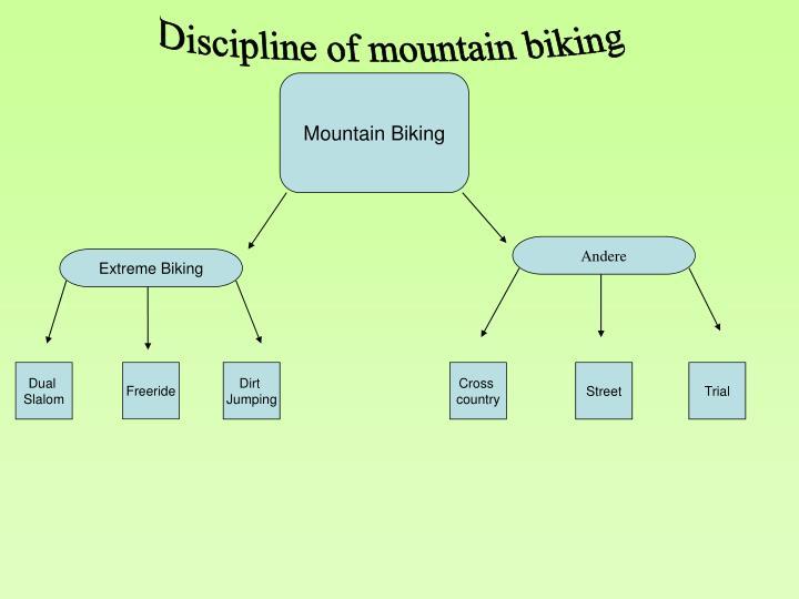 Discipline of mountain biking