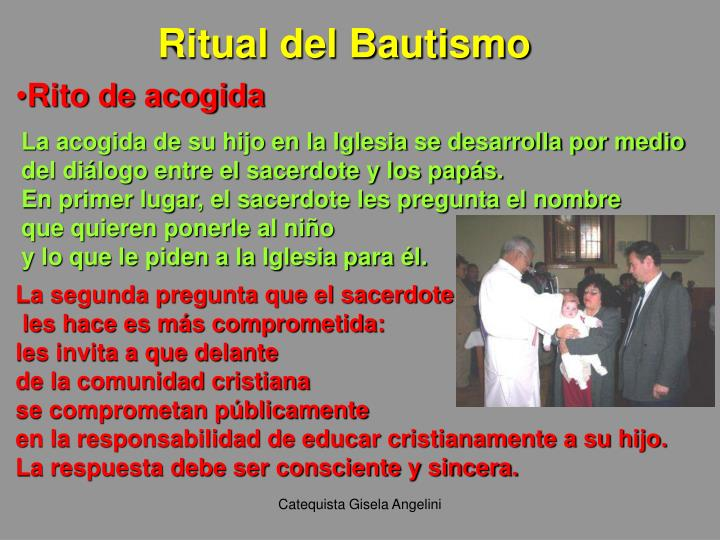 Ritual del Bautismo