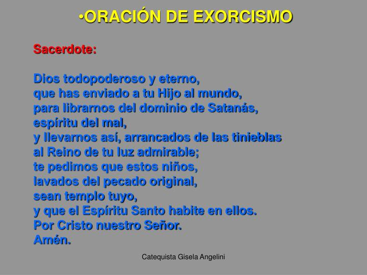 ORACIÓN DE EXORCISMO