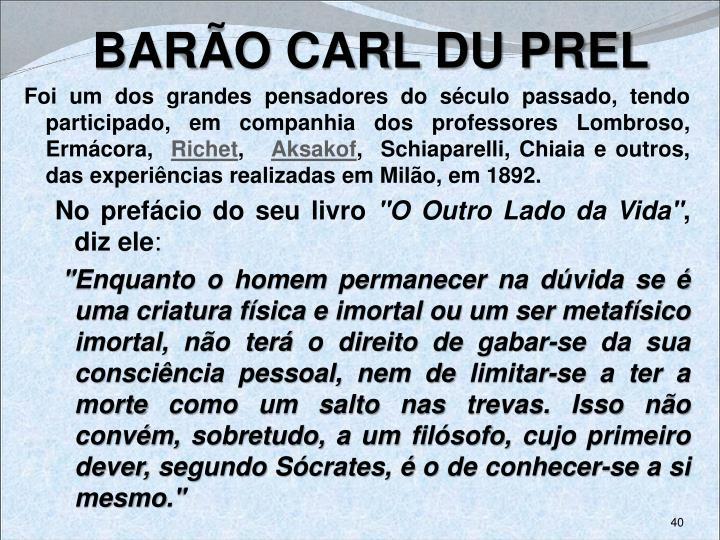 BARÃO CARL DU PREL