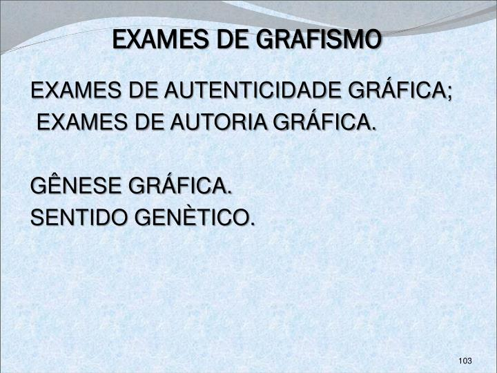 EXAMES DE GRAFISMO