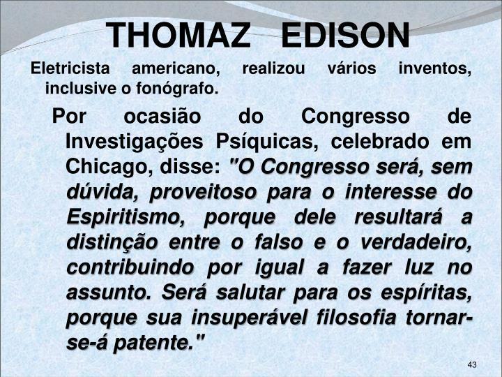 THOMAZ   EDISON