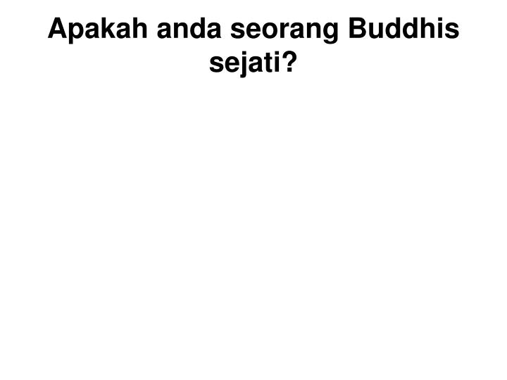 Two types of Buddhists :