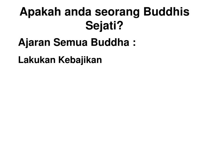 Ajaran Semua Buddha :