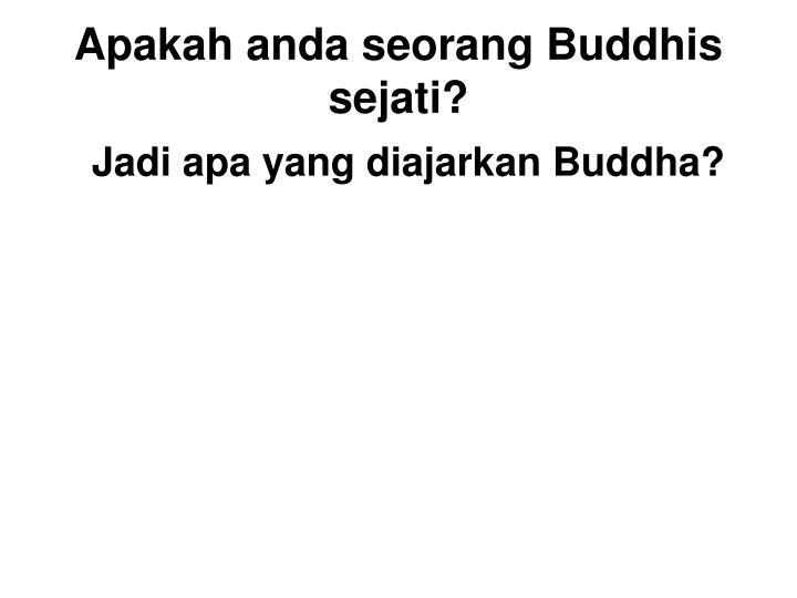 Jadi apa yang diajarkan Buddha?