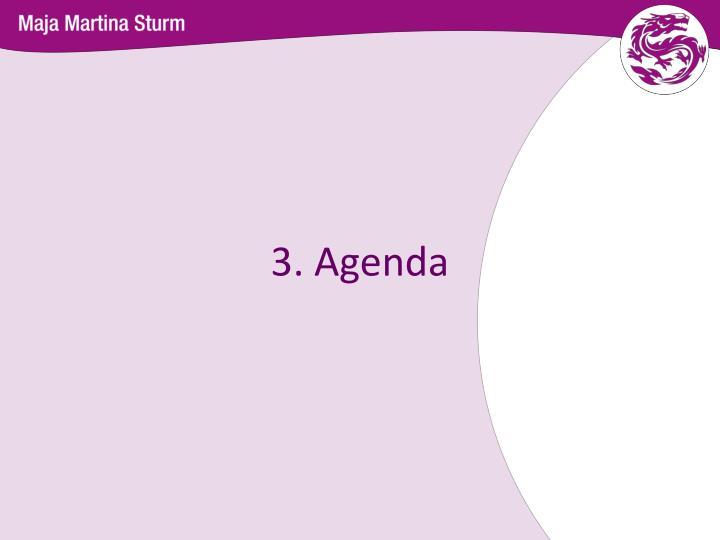 3. Agenda