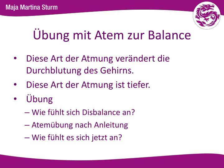 Übung mit Atem zur Balance