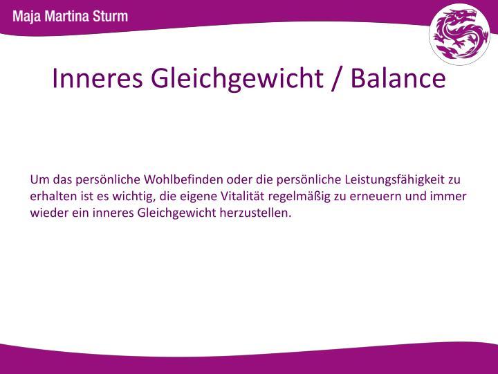 Inneres Gleichgewicht / Balance