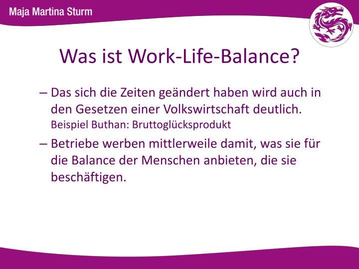 Was ist Work-Life-Balance?