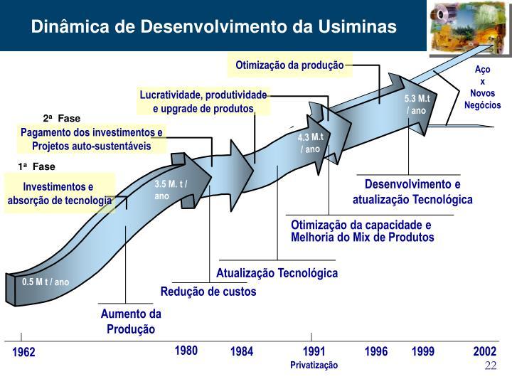 Dinâmica de Desenvolvimento da Usiminas