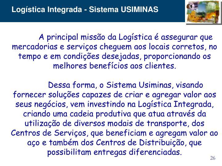 Logística Integrada - Sistema USIMINAS