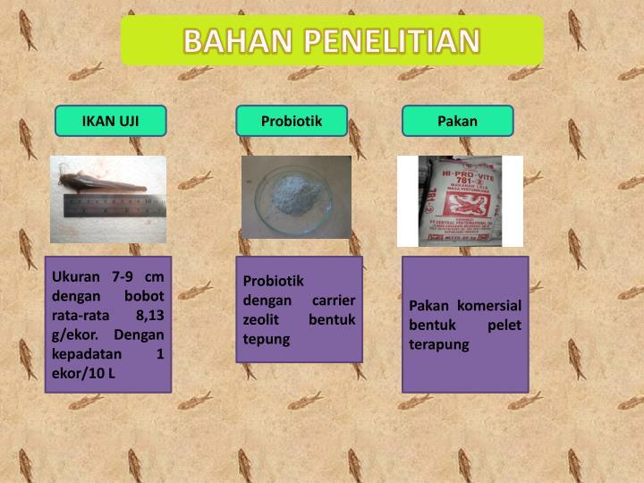 BAHAN PENELITIAN