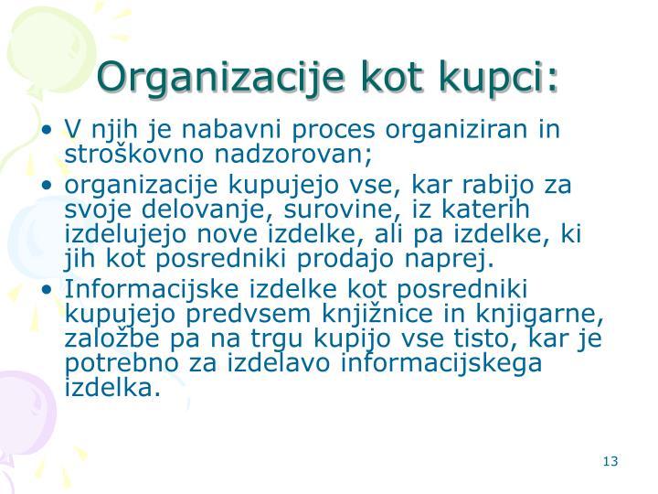 Organizacije kot kupci: