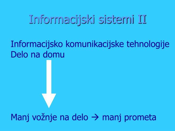 Informacijski sistemi II