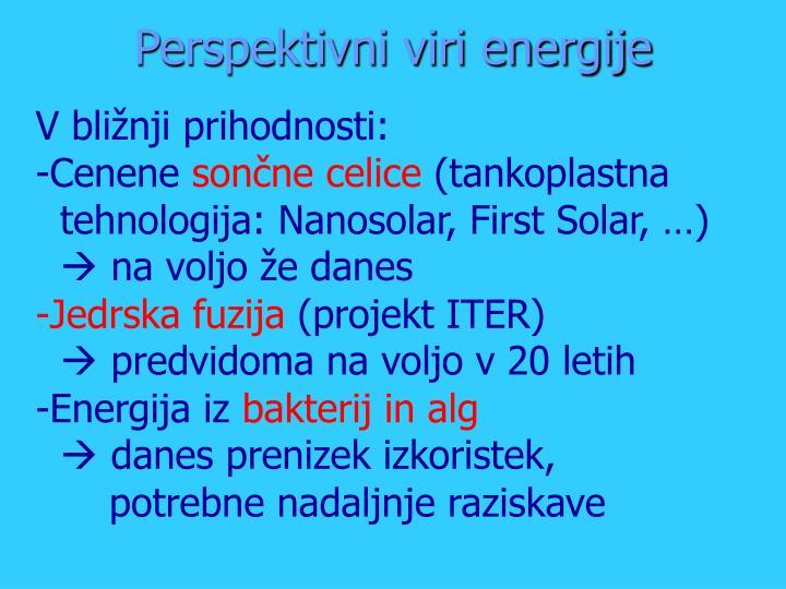 Perspektivni viri energije