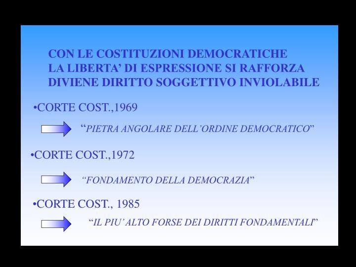 CON LE COSTITUZIONI DEMOCRATICHE