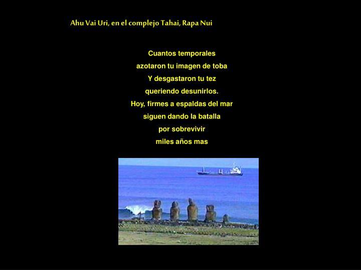 Ahu Vai Uri, en el complejo Tahai, Rapa Nui
