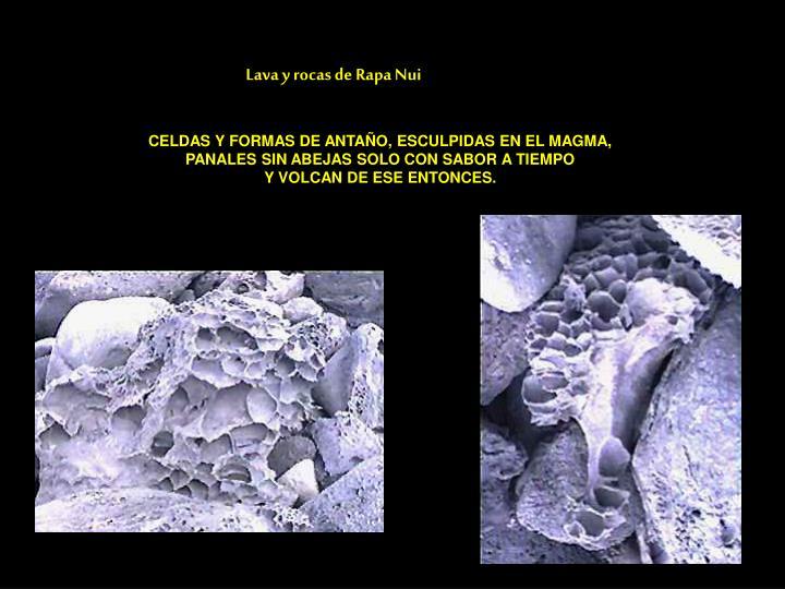 Lava y rocas de Rapa Nui