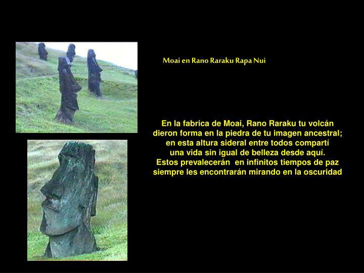 Moai en Rano Raraku Rapa Nui