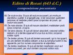 editto di rotari 643 d c composizione pecuniaria