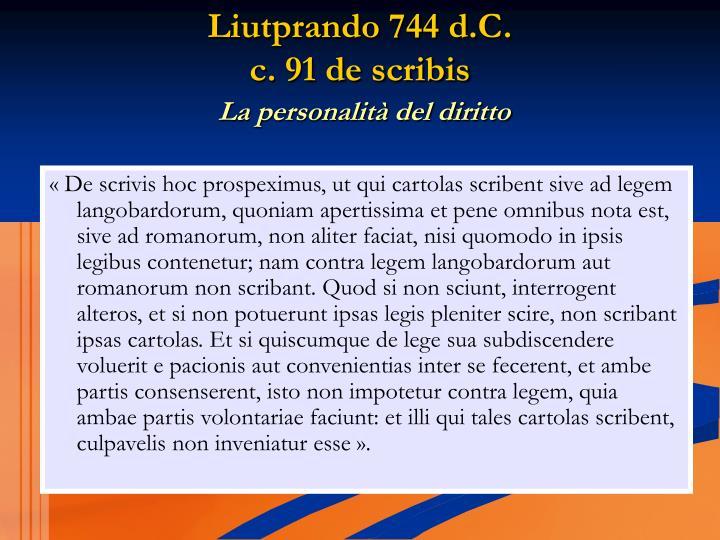 Liutprando 744 d.C.