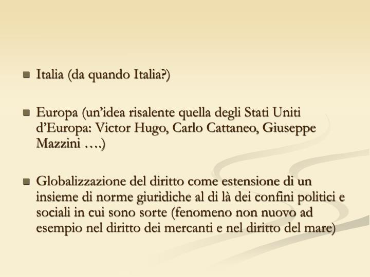 Italia (da quando Italia?)