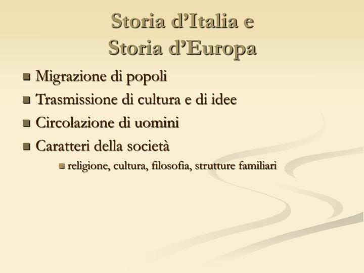 Storia d'Italia e
