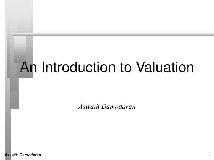 An introduction to valuation