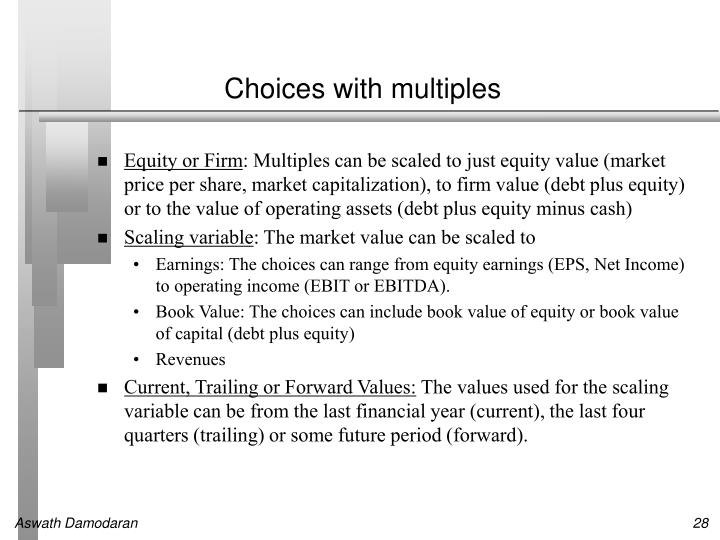 Choices with multiples