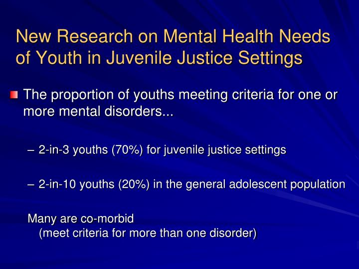 Position Statement 51: Children With Emotional Disorders In The Juvenile Justice System