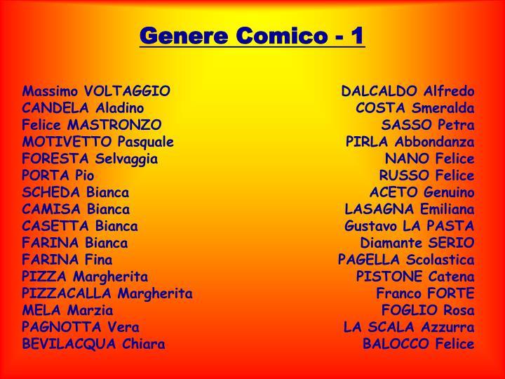 Genere Comico - 1
