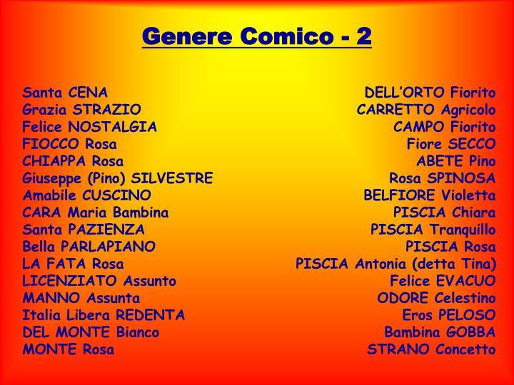 Genere Comico - 2