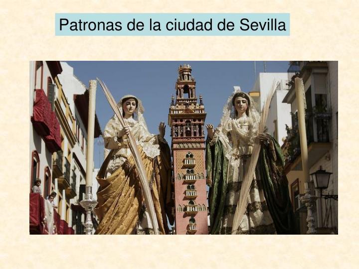 Patronas de la ciudad de Sevilla