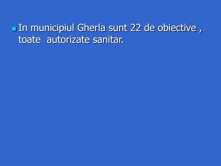 In municipiul Gherla sunt 22 de obiective ,  toate  autorizate sanitar.