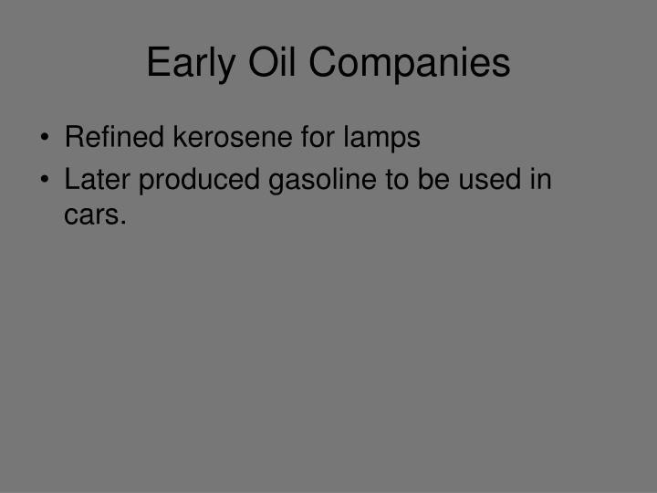 Early Oil Companies