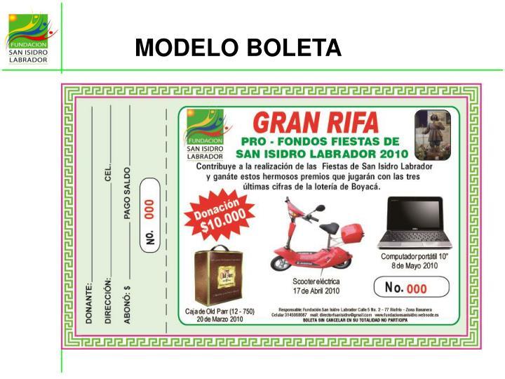 MODELO BOLETA