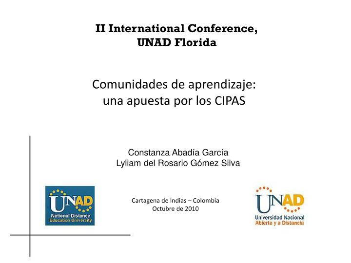 II International Conference,