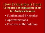 how evaluation is done1