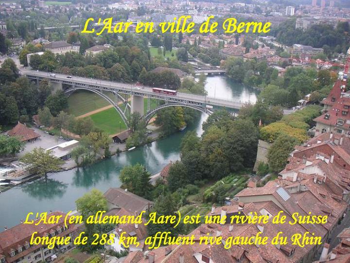 L'Aar en ville de Berne