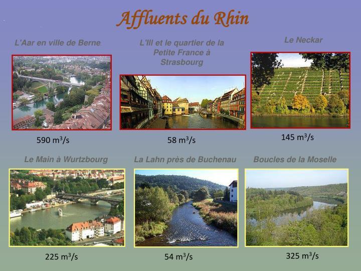 Affluents du Rhin