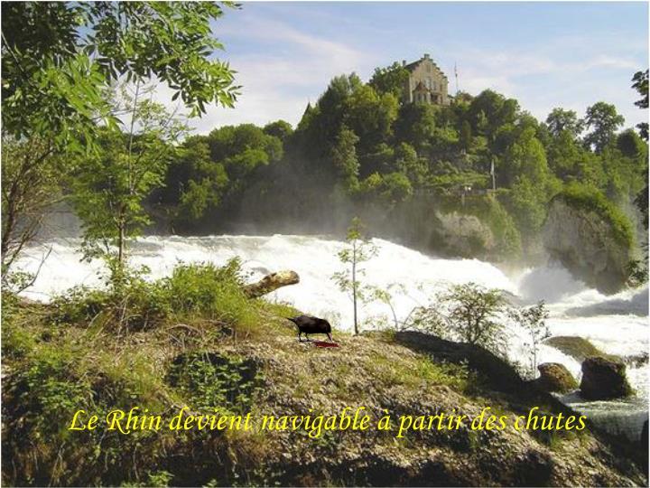 Le Rhin devient navigable à partir des chutes