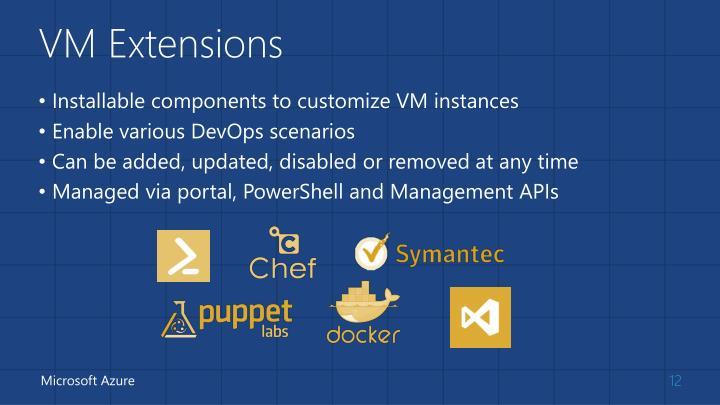 VM Extensions