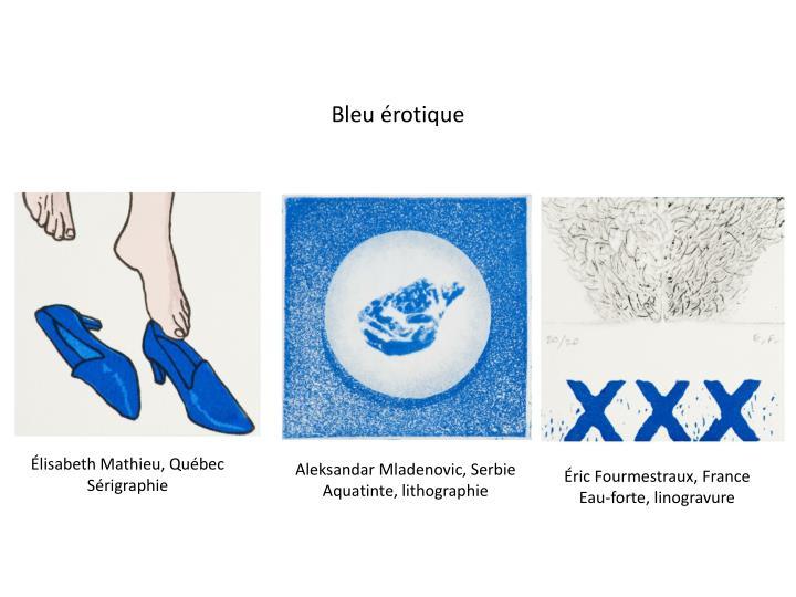 Bleu érotique