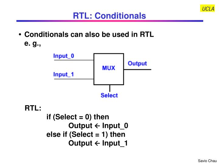 RTL: Conditionals