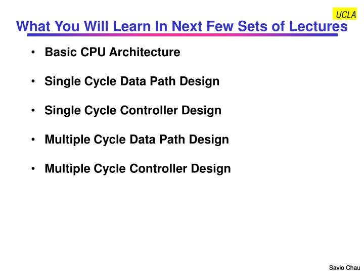 What you will learn in next few sets of lectures