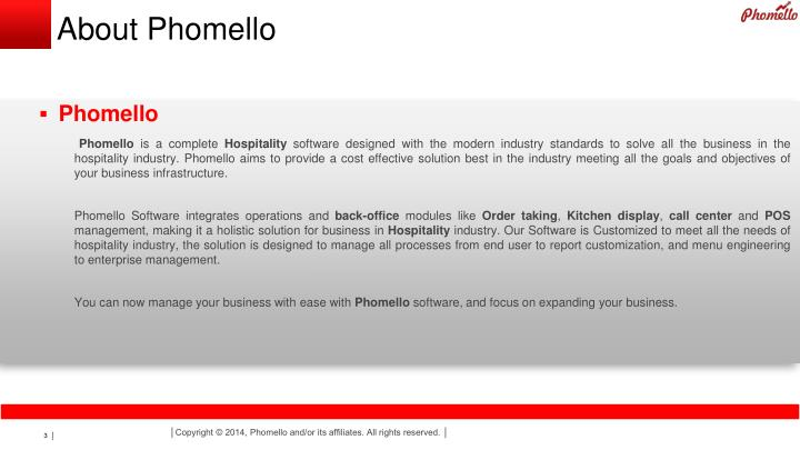 About Phomello