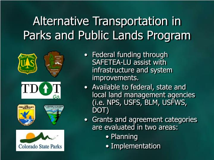 Alternative Transportation in Parks and Public Lands Program